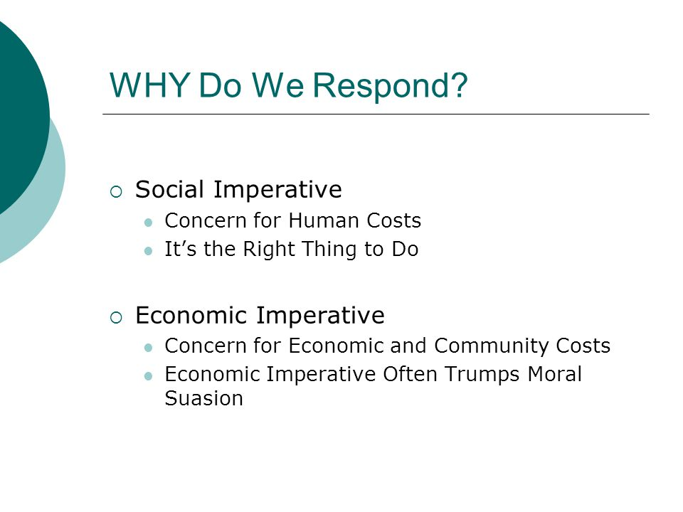 WHY Do We Respond.