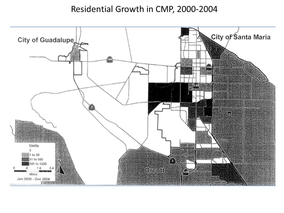 Residential Growth in CMP, 2000-2004