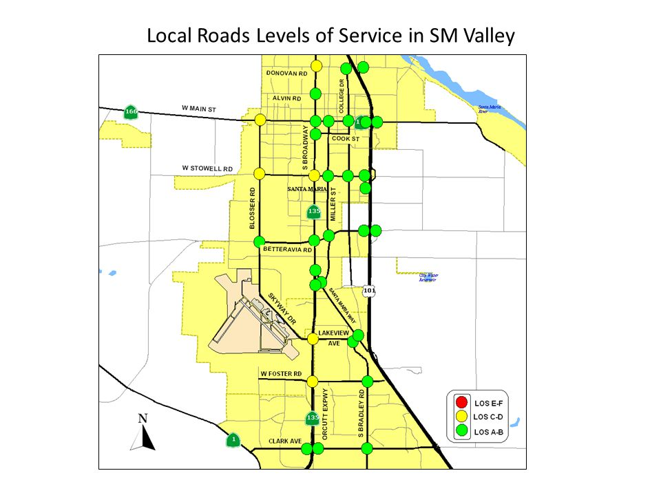 Local Roads Levels of Service in SM Valley
