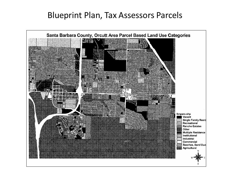 Blueprint Plan, Tax Assessors Parcels