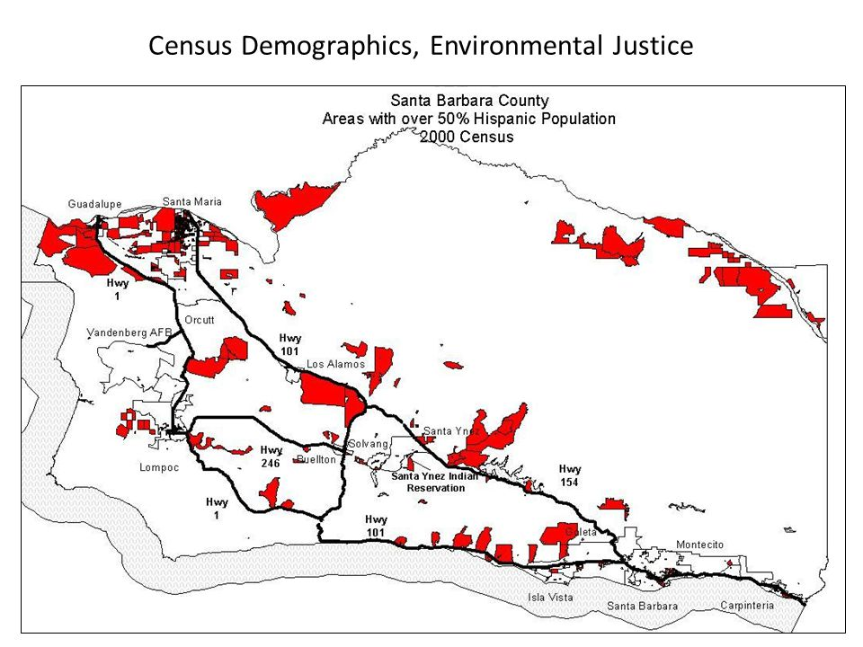 Census Demographics, Environmental Justice