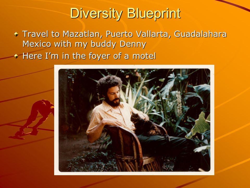 Diversity Blueprint Travel to Mazatlan, Puerto Vallarta, Guadalahara Mexico with my buddy Denny Here I'm in the foyer of a motel