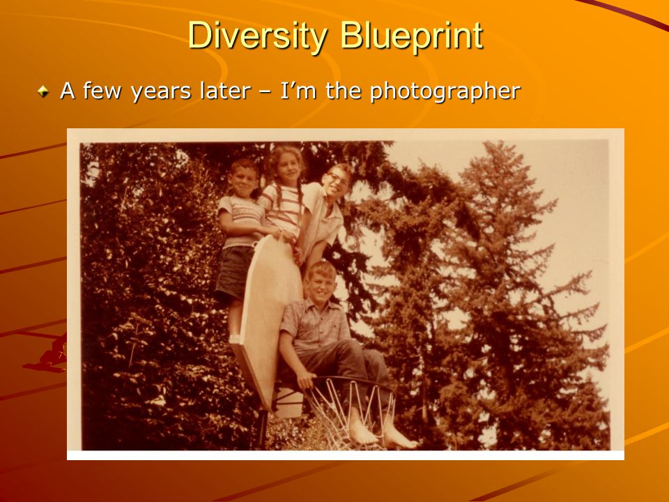 Diversity Blueprint A few years later – I'm the photographer
