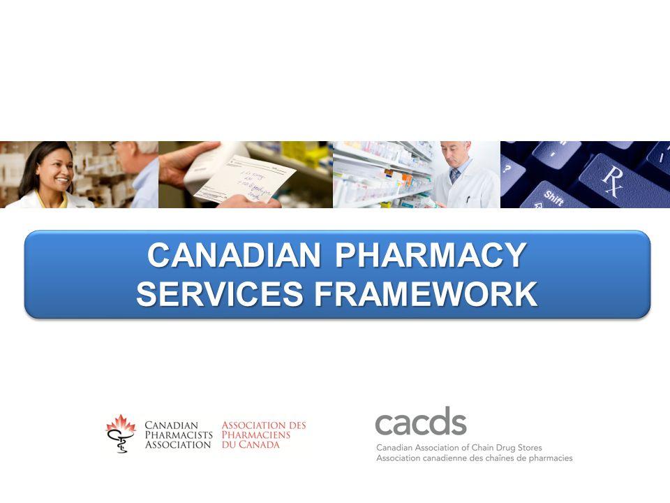 CANADIAN PHARMACY SERVICES FRAMEWORK CANADIAN PHARMACY SERVICES FRAMEWORK