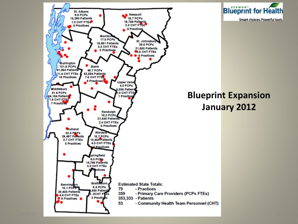 5/1/201515 Blueprint Expansion January 2012