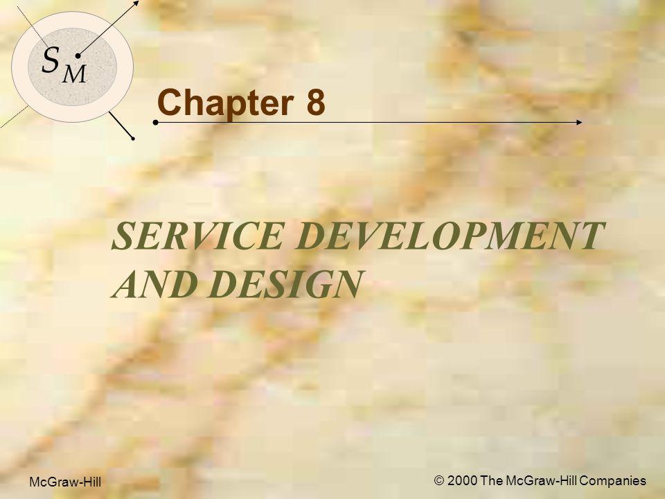 McGraw-Hill© 2000 The McGraw-Hill Companies 3 S M S M McGraw-Hill © 2000 The McGraw-Hill Companies Chapter 8 SERVICE DEVELOPMENT AND DESIGN