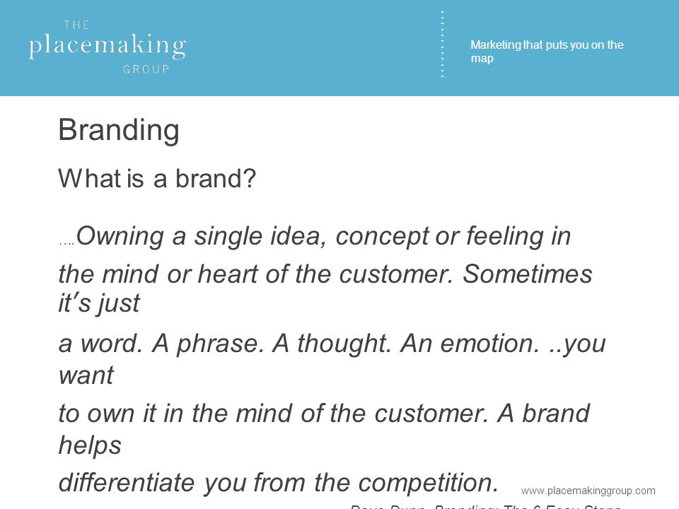………… Branding What is a brand. ….