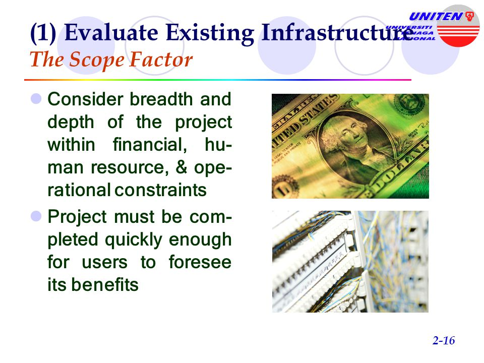(1) Evaluate Existing Infrastructure Systems Justifications Are experts  available  willing to help in building a KM sys- tem.