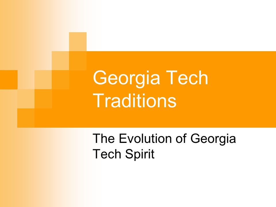 Oh sons of Tech arise behold The banner as it reigns supreme For from on high the White and Gold Waves in its triumphant gleam, The spirit of the cheering throng Resounds with joy revealing A brotherhood in praise and song In the memory of the days gone by Oh Scion of the Southland In our hearts shall forever fly.