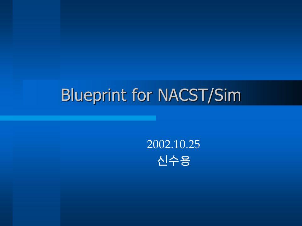 Blueprint for NACST/Sim 2002.10.25 신수용