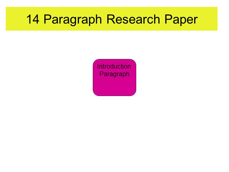14 Paragraph Research Paper Introduction Paragraph