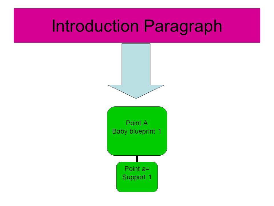 Introduction Paragraph Point A Baby blueprint 1 Point a= Support 1