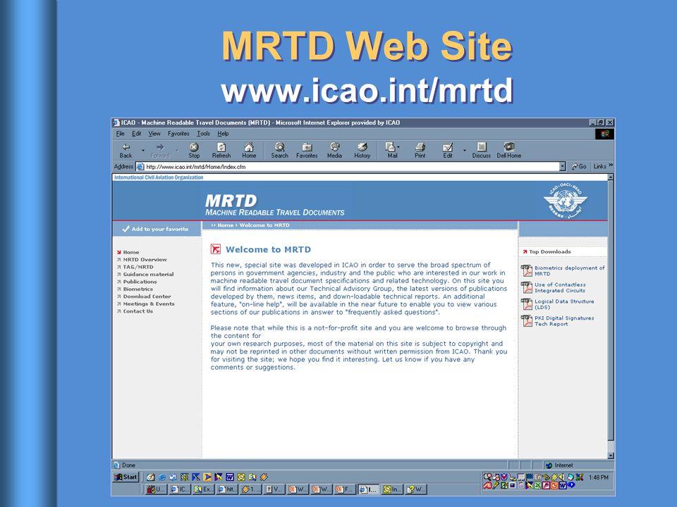 MRTD Web Site www.icao.int/mrtd
