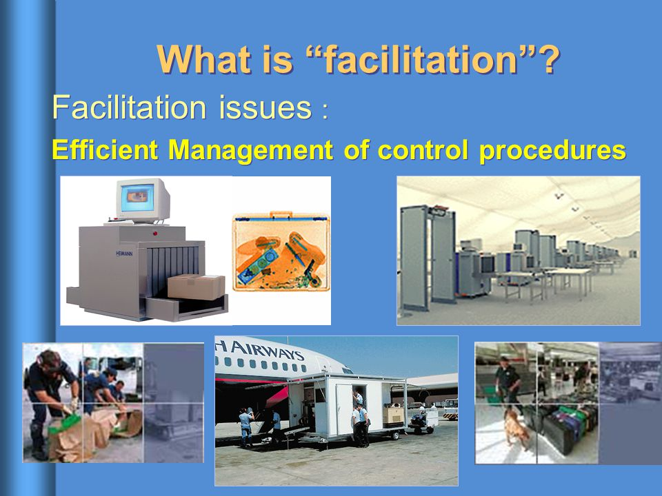 "What is ""facilitation""? Facilitation issues : Efficient Management of control procedures Facilitation issues : Efficient Management of control procedu"