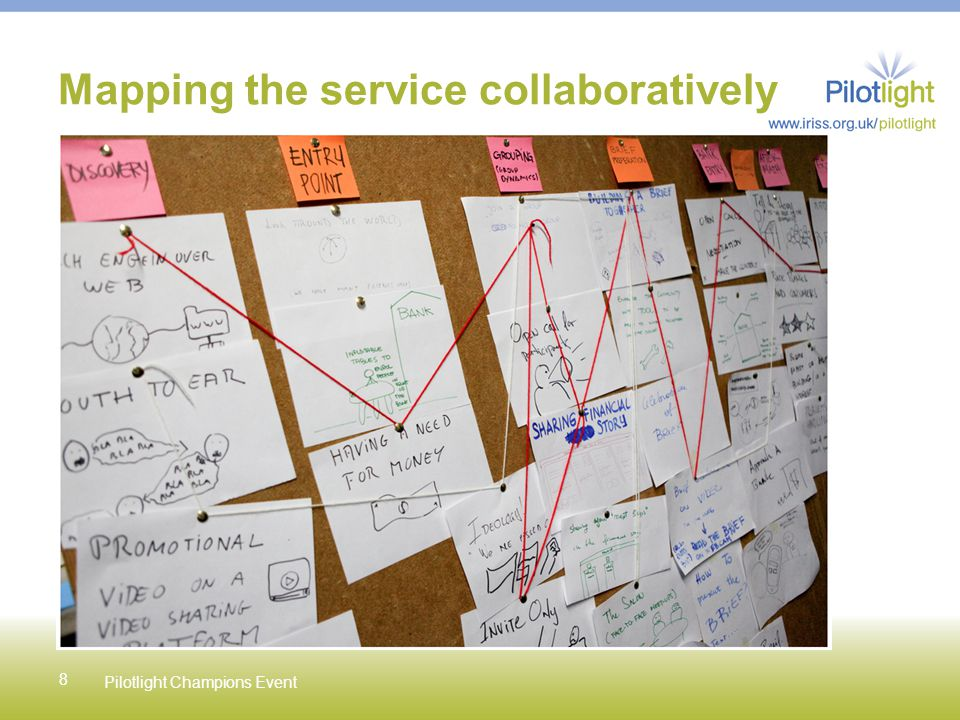 8 Mapping the service collaboratively Pilotlight Champions Event