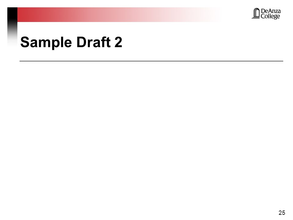Sample Draft 2 25