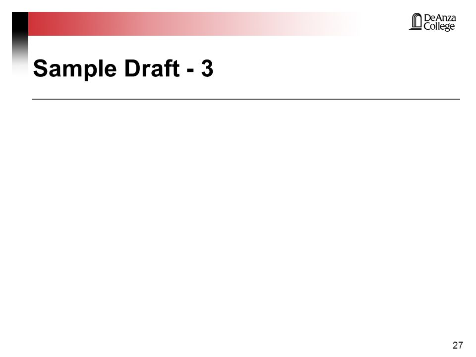 Sample Draft - 3 27