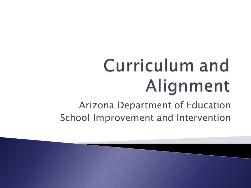 Arizona Department of Education School Improvement and Intervention