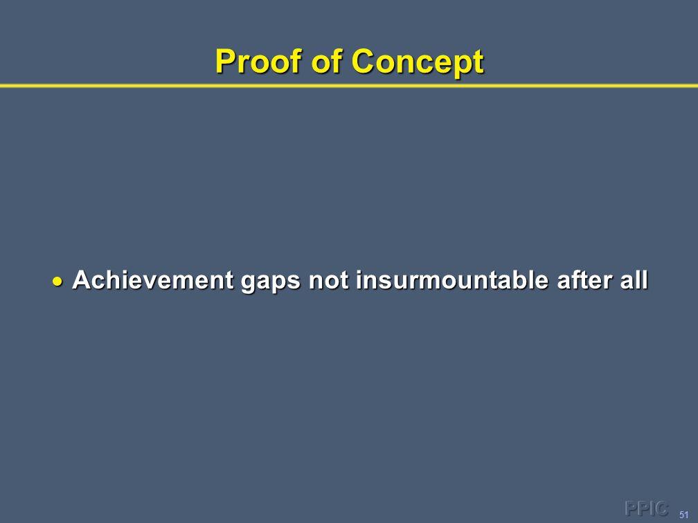 51 Proof of Concept  Achievement gaps not insurmountable after all