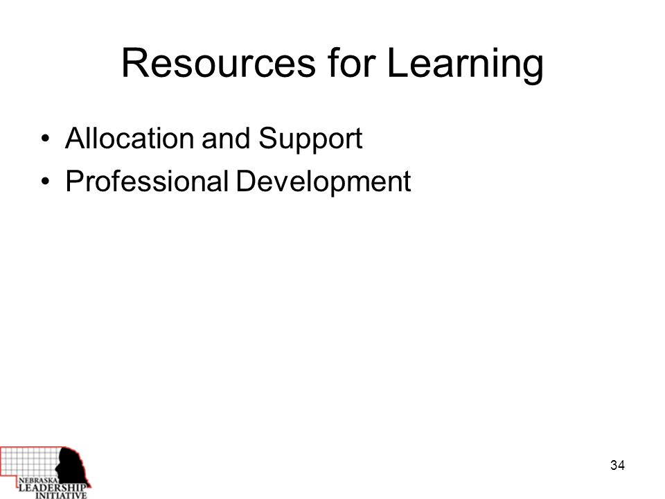 34 Resources for Learning Allocation and Support Professional Development