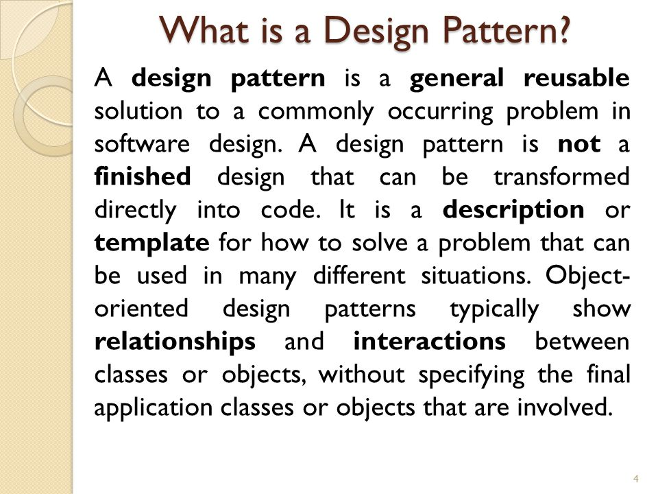 What is a Design Pattern.