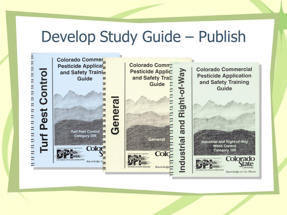 Develop Study Guide – Publish
