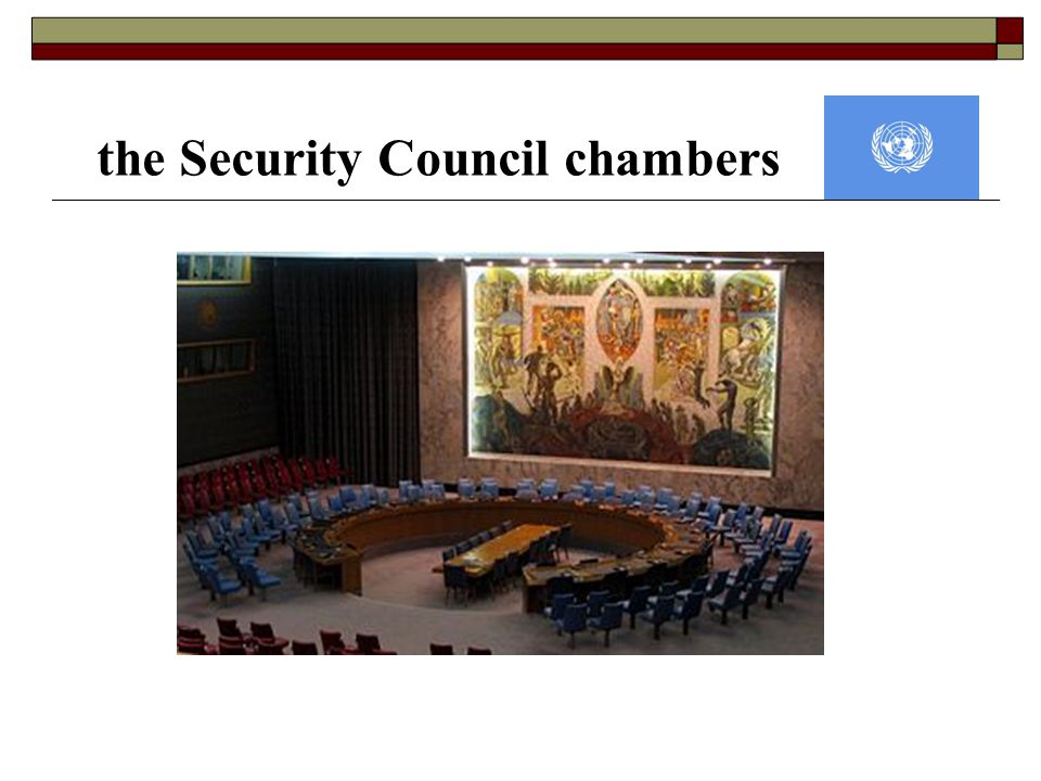 the Security Council chambers