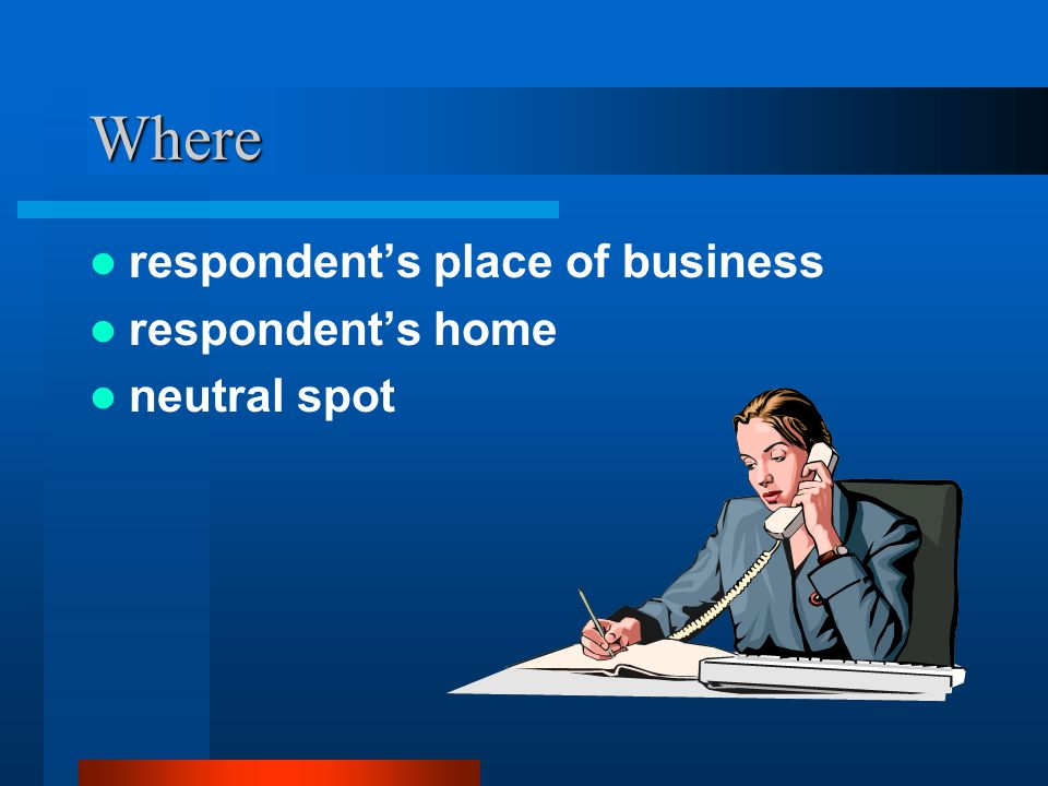 Where respondent's place of business respondent's home neutral spot