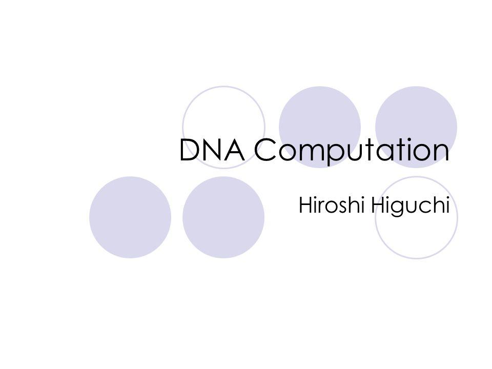 DNA Computation Hiroshi Higuchi