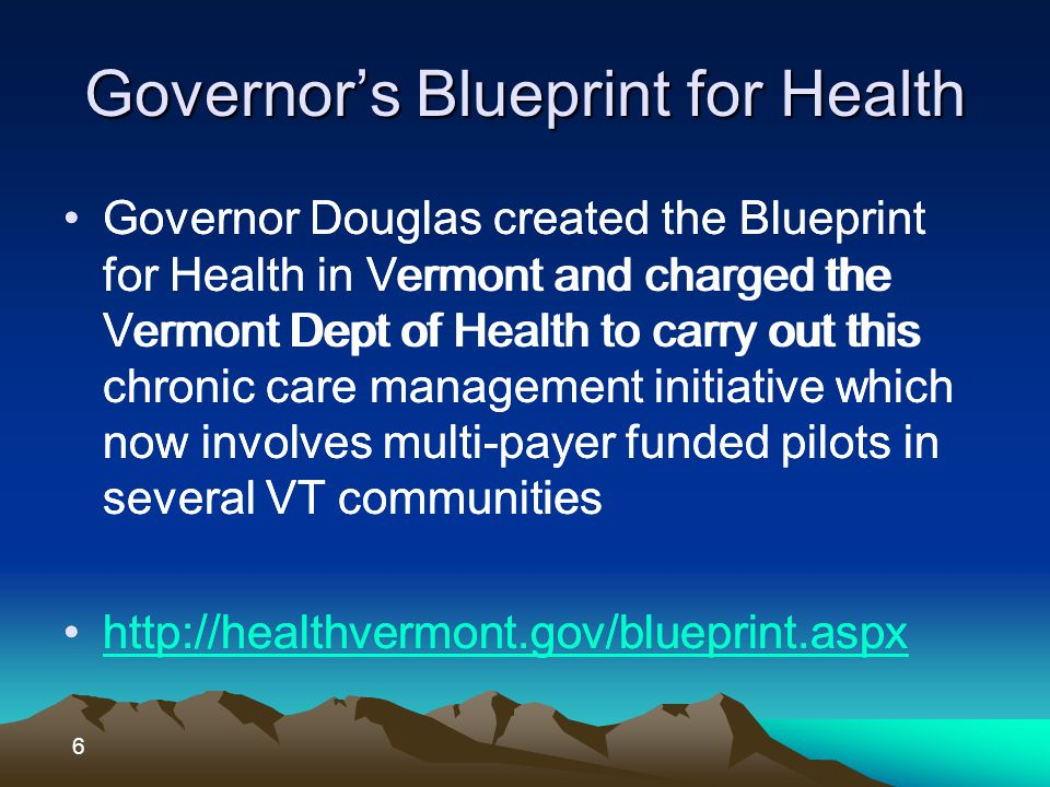 Vermont is a Medicare plan VT would work with CMS on authority to act as a Medicare plan Medicaid authority would remain with our two 1115 waivers.