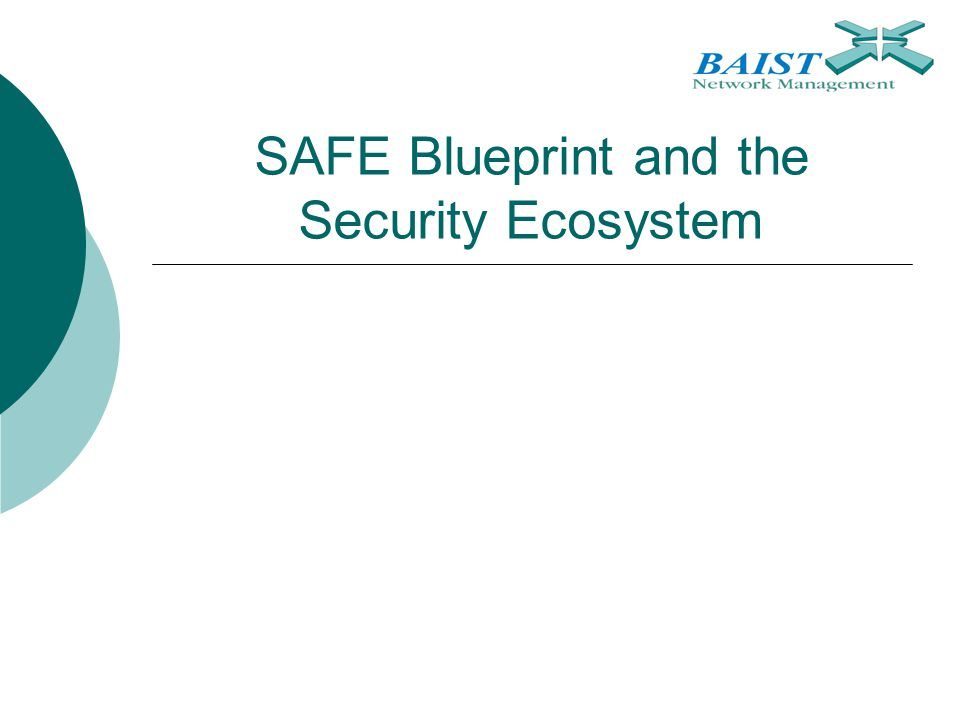 SAFE Blueprint and the Security Ecosystem