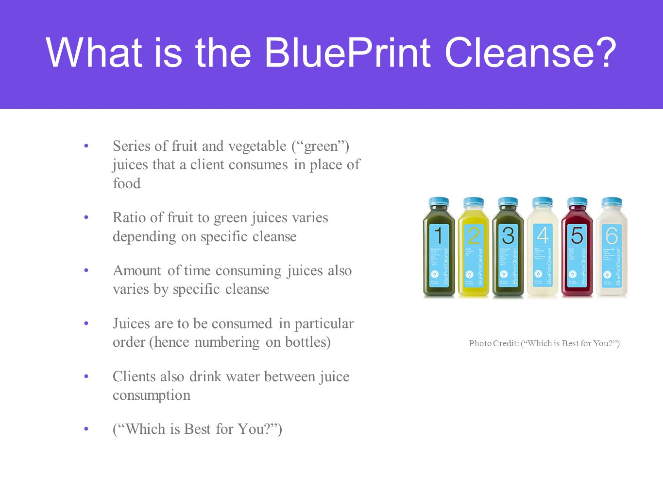 What Can the BluePrint Cleanse Do.