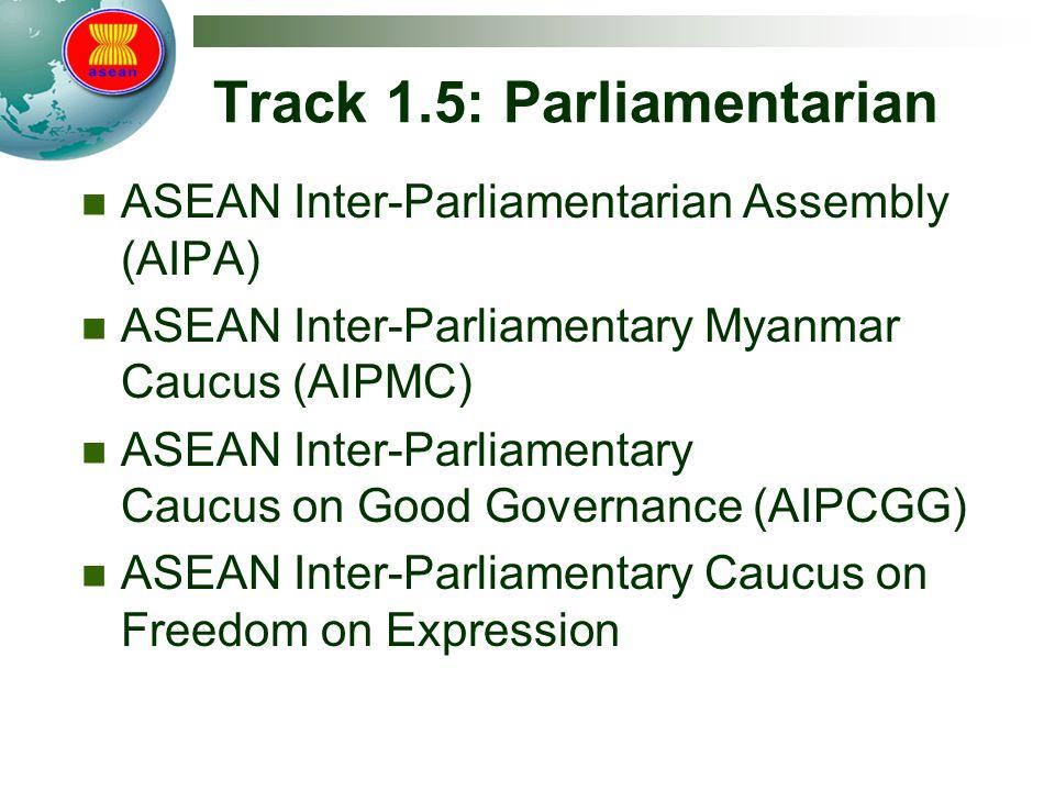 Track 1.5: Parliamentarian ASEAN Inter-Parliamentarian Assembly (AIPA) ASEAN Inter-Parliamentary Myanmar Caucus (AIPMC) ASEAN Inter-Parliamentary Cauc