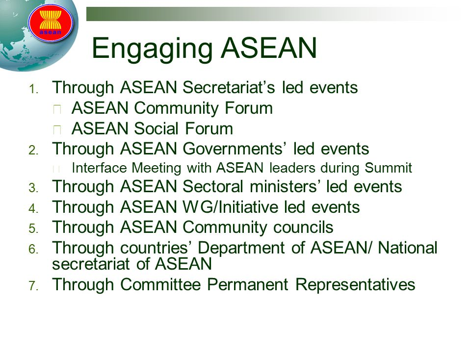 Engaging ASEAN 1.