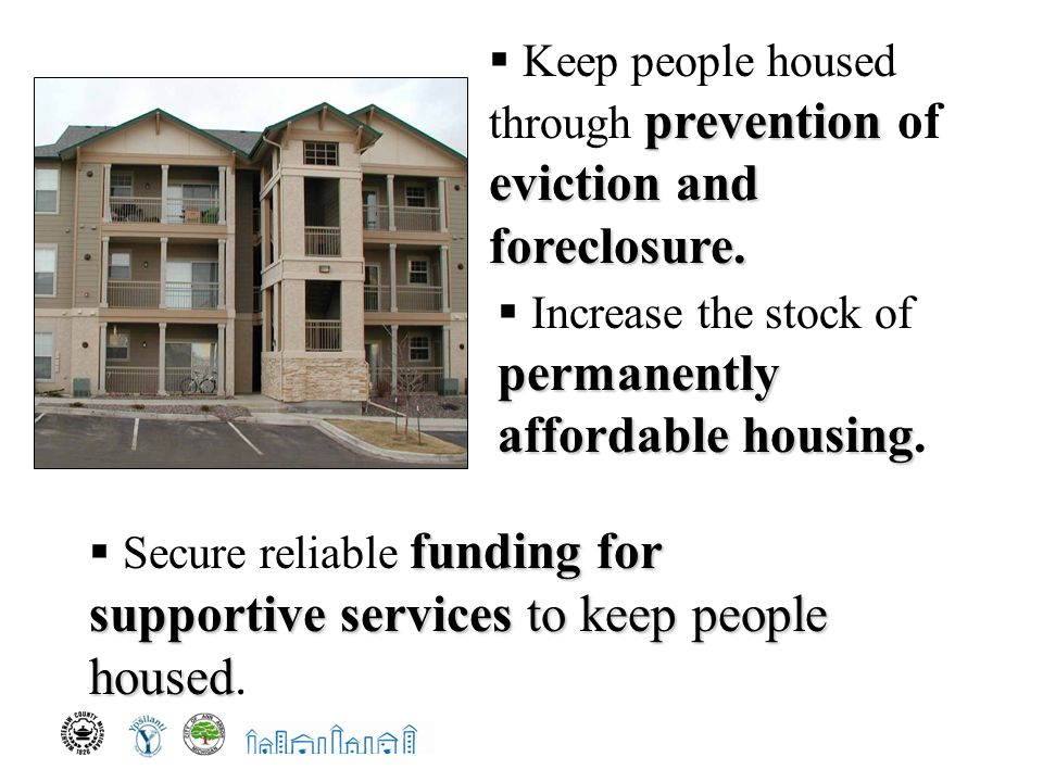 prevention eviction and foreclosure.