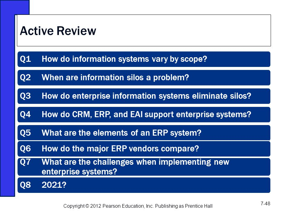 Active Review Q1 How do information systems vary by scope.