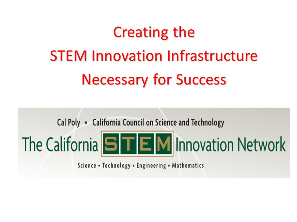 Creating the STEM Innovation Infrastructure Necessary for Success