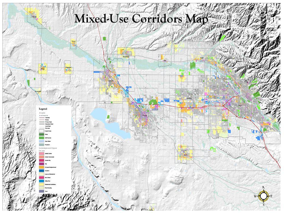 Mixed-Use Corridors Map