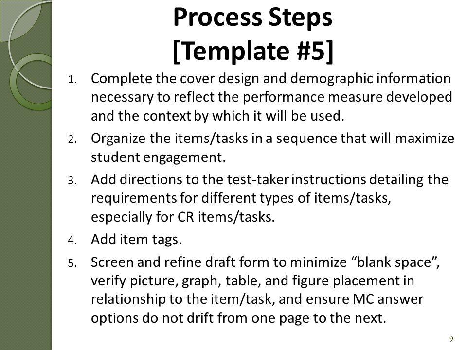 Process Steps [Template #5] 1.