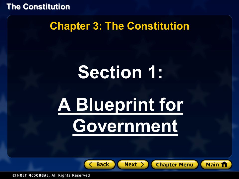 Section 1: A Blueprint for Government Chapter 3: The Constitution