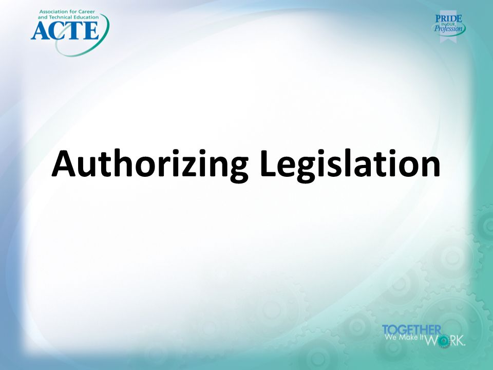 Authorizing Legislation