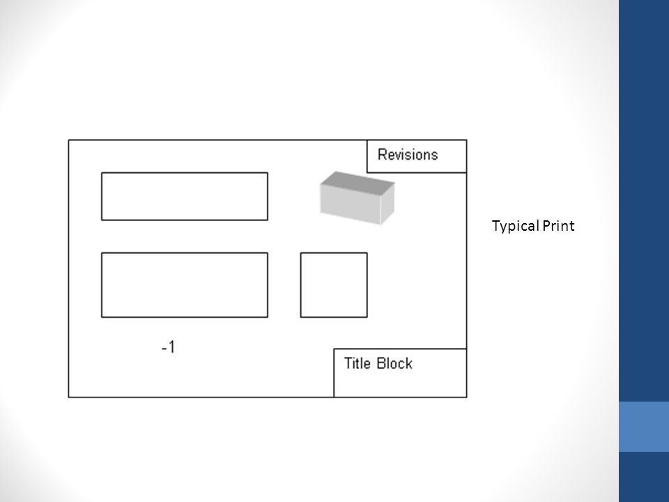 Print reading is getting information from a print.