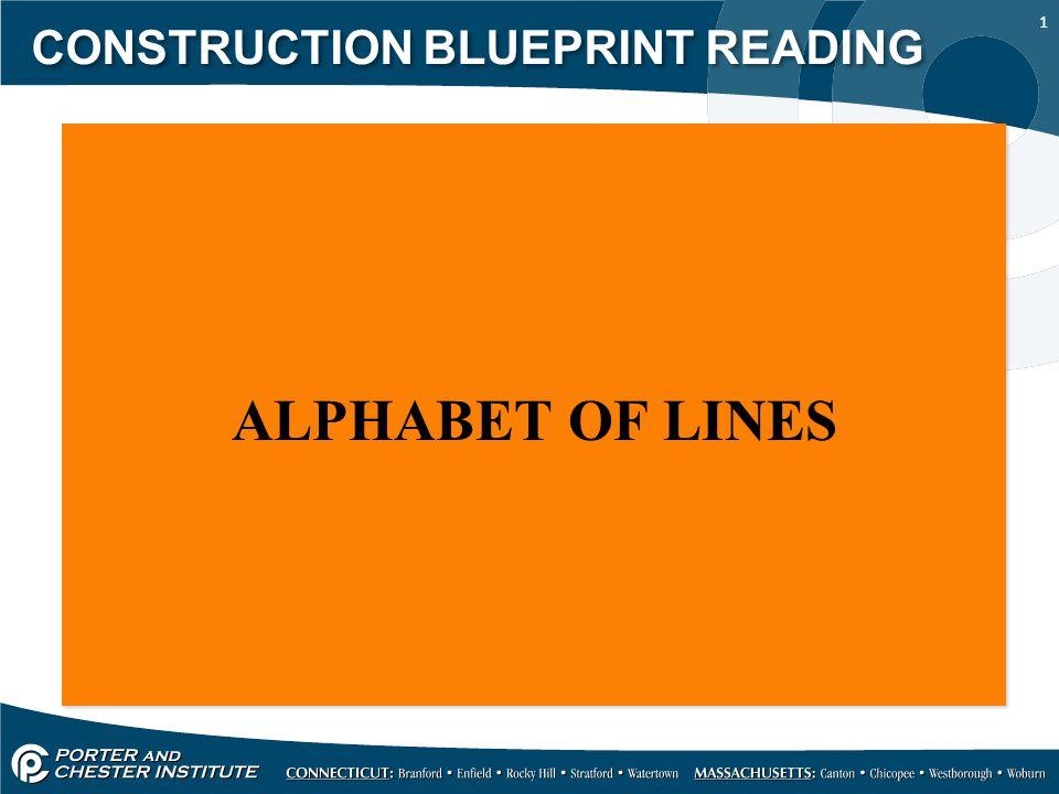 1 CONSTRUCTION BLUEPRINT READING ALPHABET OF LINES