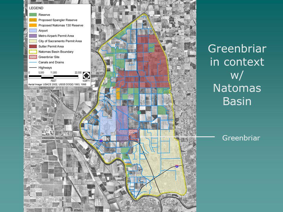 Greenbriar in context w/ Natomas Basin Greenbriar