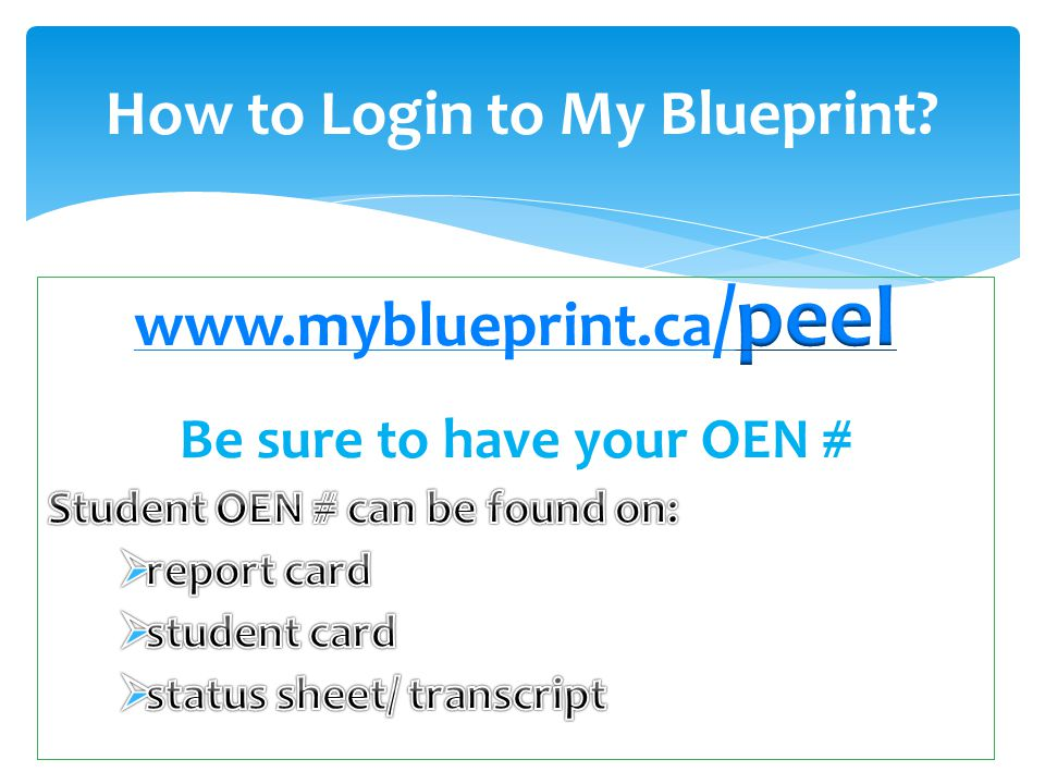 How to Login to My Blueprint?