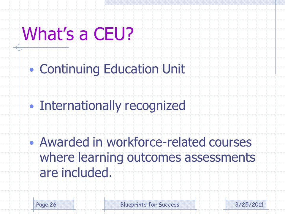 What's a CEU.