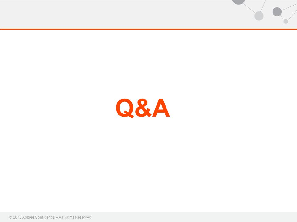 © 2013 Apigee Confidential – All Rights Reserved Q&A