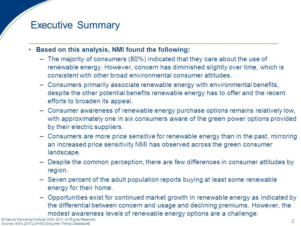 13 © Natural Marketing Institute (NMI), 2011.All Rights Reserved.