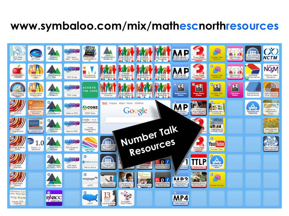 www.symbaloo.com/mix/mathescnorthresources Number Talk Resources