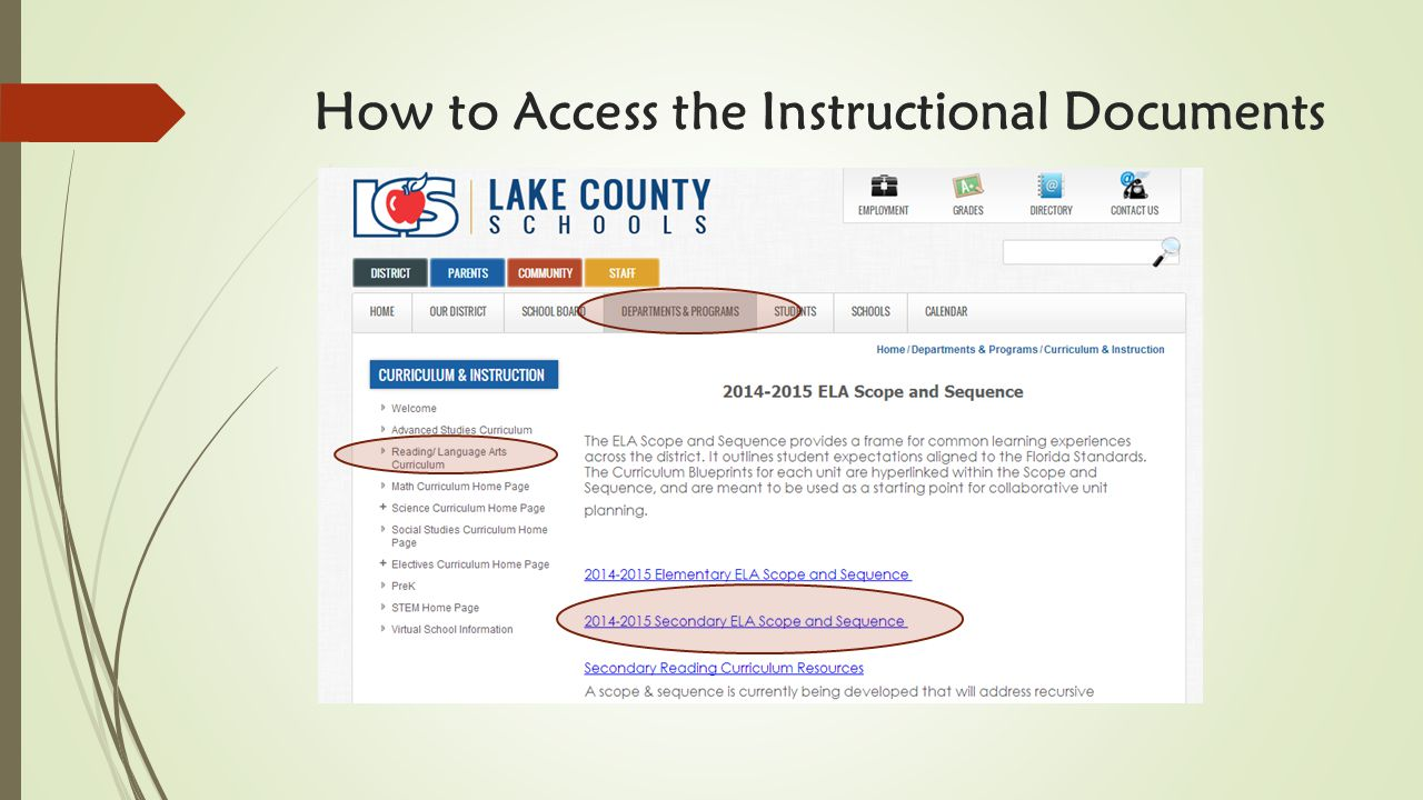How to Access the Instructional Documents